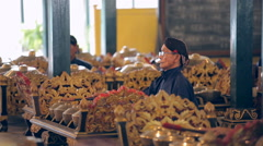 Percussion instrument gamelan Stock Footage