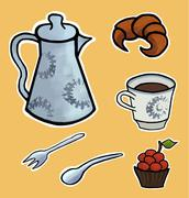 English tea ceremony vector illustration Stock Illustration