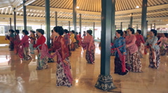 Javanese dances Stock Footage