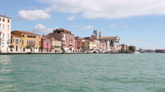 Venice - Approach To St Mark's Square across the water Stock Footage