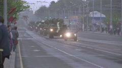 Military vehicles on the streets of Minsk. 9 May 2015 - 20 Stock Footage