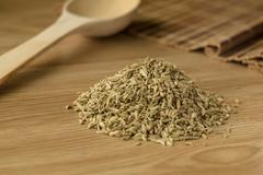 Spice fennel on a wooden table 2. - stock photo