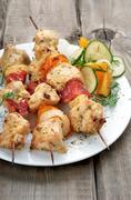 Chicken shish kebab - stock photo