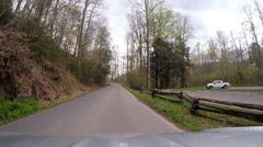 Driving in mountain spring blooms Stock Footage