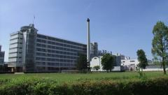 ROTTERDAM  Van Nelle Factory pan exterior coffee and tobacco factory Stock Footage