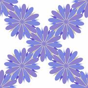 Flower seamless pattern illustration  decorative, design, element Stock Illustration