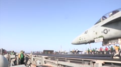 Flight Deck Operations Aboard USS George H.W. Bush Stock Footage