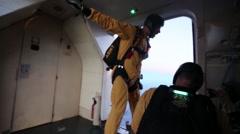 2014 Miramar Air Show: Golden Knights' Night Performance Stock Footage