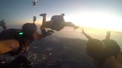 2014 Miramar Air Show: Golden Knights' Night Performance Stock Footage