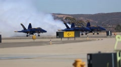 Blue Angels Soar in the Heavens During 2014 Miramar Air Show Stock Footage