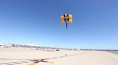Golden Knights Perform at 2014 Miramar Air Show Stock Footage