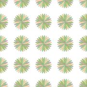 Flower seamless pattern illustration  decorative, design, element - stock illustration