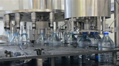 Water bottling plant Stock Footage