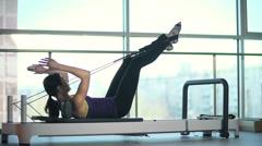 Sliding Gym Equipment Stock Footage