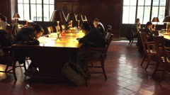 Small reading room at the public library NY Stock Footage
