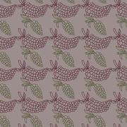 Stock Illustration of Grape seamless vector illustration shape, silhouette, spring