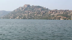 View of beautiful untouched landscape in Hampi. - stock footage
