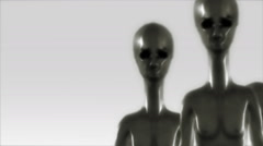 Aliens UFO Greys Zomm in and Out Stock Footage