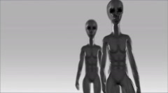 Stock Video Footage of Aliens UFO Greys Pan Past