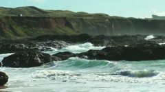St. Ives Bay, waves at the coast in Cornwall Stock Footage
