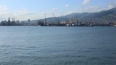 RUSSIA. NOVOROSSIYSK. MAY 2011: Novorossiysk Commercial Sea Port Stock Footage
