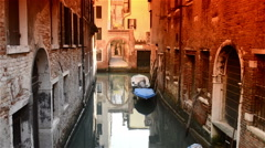 Lagoon tide in Venice Italy Stock Footage