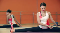Seated Side Bend - stock footage