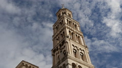 Time lapse from the Cathedral of Saint Domnius in Split, Croatia Stock Footage