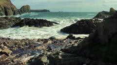 Lizard, Cornwall, stony spot at the sea Stock Footage