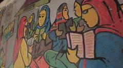 Islamic graffiti Stock Footage