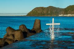Splash of Salvation - stock photo