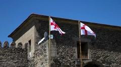 Waving georgian flag Stock Footage