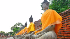 Famous ancient temple in Thailand. Stock Footage