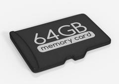 MicroSD memory card Stock Illustration