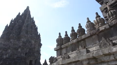 Prambanan temple on the island of Java, Indonesia Stock Footage