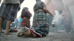 Mayan women making rituals - stock footage