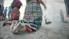 Mayan women making rituals Stock Footage