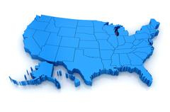 Map of USA - stock illustration
