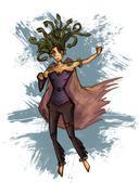 Medusa gorgona vector illustration - stock illustration