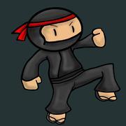 Ninja asia cartoon danger character vector illustration Stock Illustration