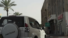 Driving in south Tel-Aviv Stock Footage