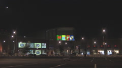 RUSSIA.MOSCOW - 2010: A night view of the MEGA shopping center - stock footage