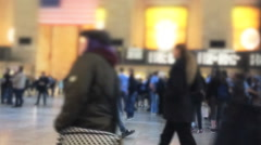 Timelapse of commuters passing at Grand Terminal Stock Footage
