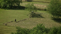Romanian countryside landscape 3 - stock footage