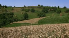 Romanian countryside landscape 1 - stock footage