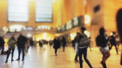 Timelapse of commuters at Grand Terminal Stock Footage