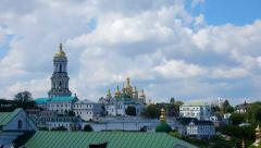 Kiev-Pechersk Lavra at spring Stock Footage