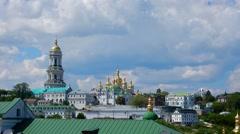 Kiev-Pechersk Lavra at spring Stock Footage