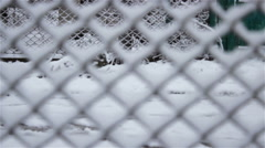 Winter fence in the snow Stock Footage