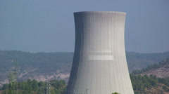 Nuclear cooling tower - stock footage